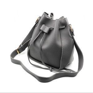 Fashion gray buckets leather handbag